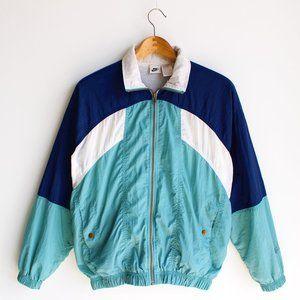 Vintage 80's Nike Color Block Windbreaker Jacket
